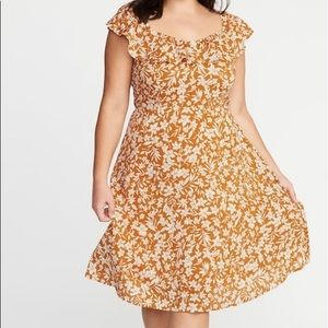 White and orange Old Navy dress